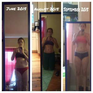 June 2015: before I started Body Beast August 2015: After Body Beast September 2015: After 21 Day Fix